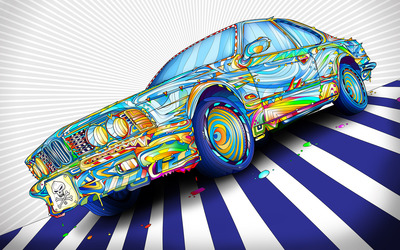 Colorful BMW wallpaper