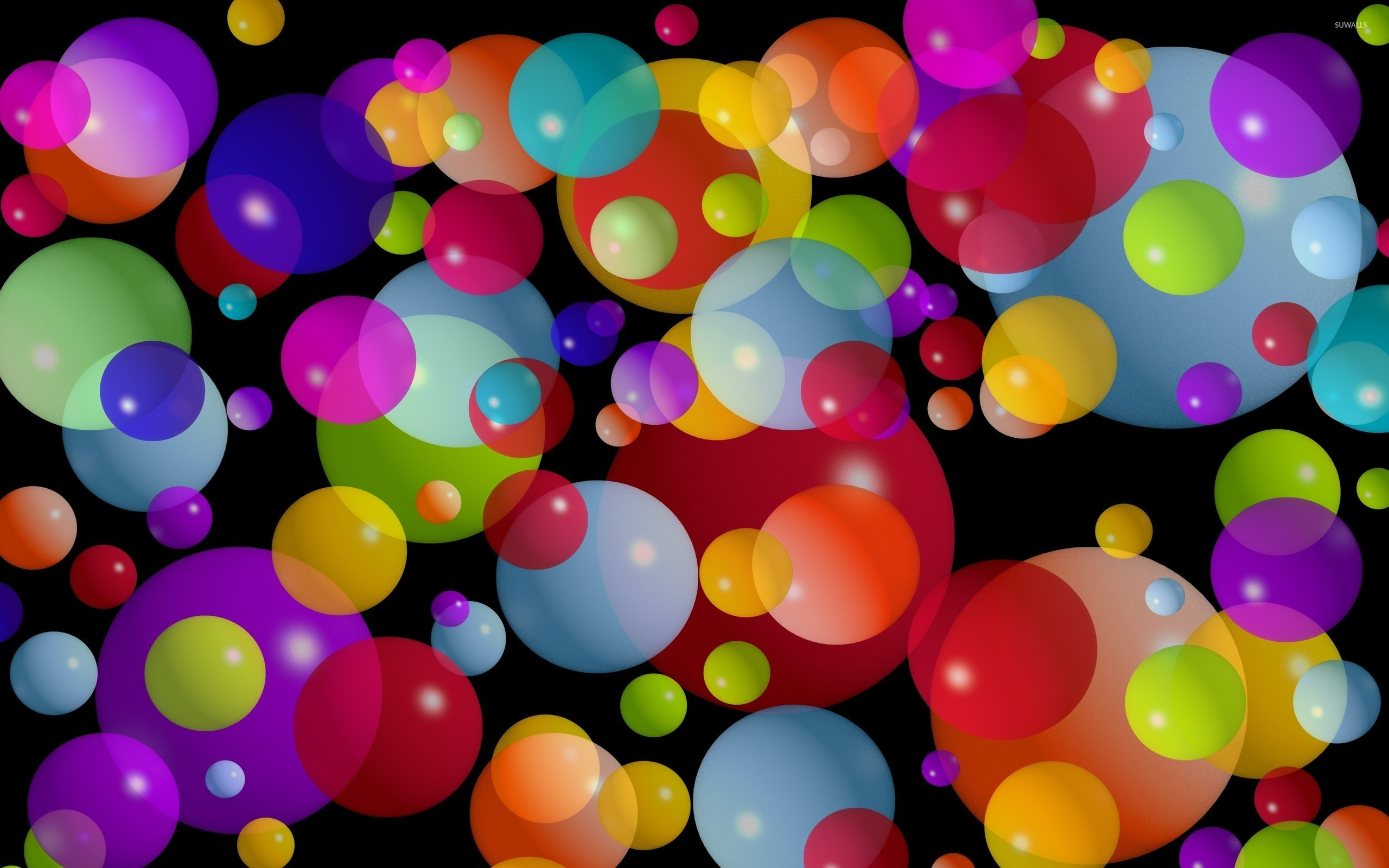 Colorful bubbles wallpaper - Digital Art wallpapers - #25091