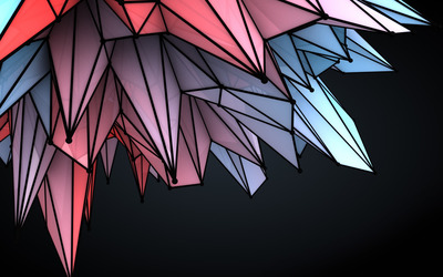 Colorful crystals wallpaper