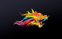 Colorful dragon with green diamonds eyes wallpaper 1920x1200 jpg