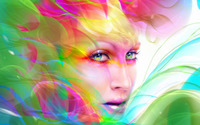 Colorful hair wallpaper 2560x1600 jpg