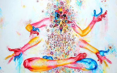 Colorful meditation wallpaper