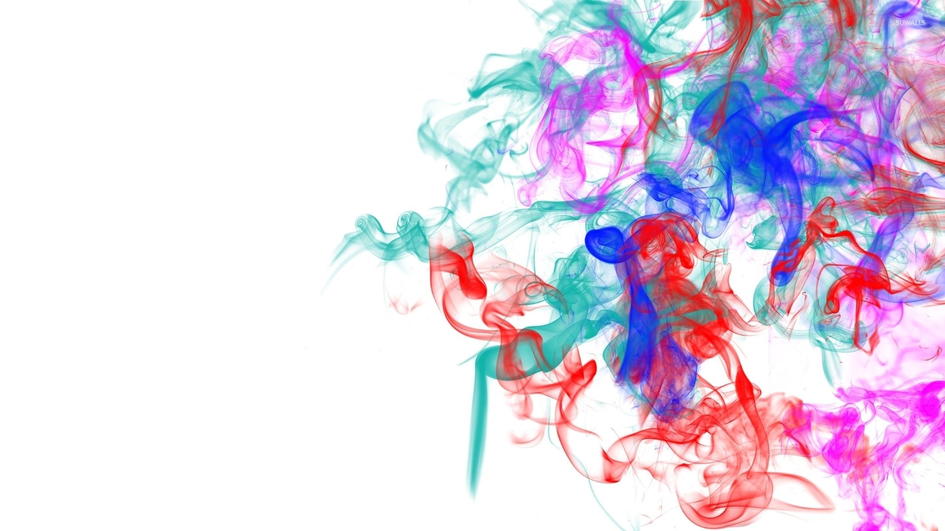 colorful smoke mixing wallpaper - digital art wallpapers - #53197