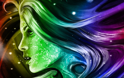 Colorful woman's face wallpaper