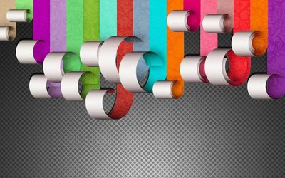 Colors on paper wallpaper