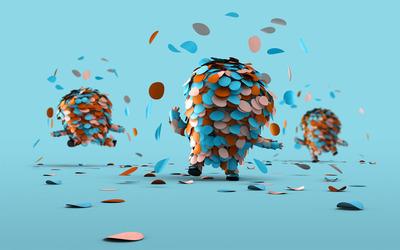Confetti people wallpaper