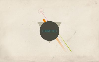 Connected shapes wallpaper
