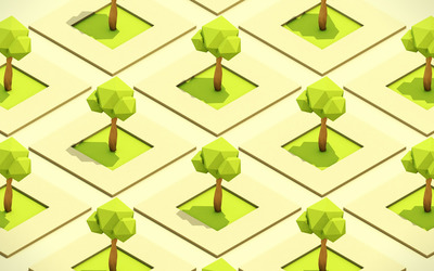 Cubical trees wallpaper