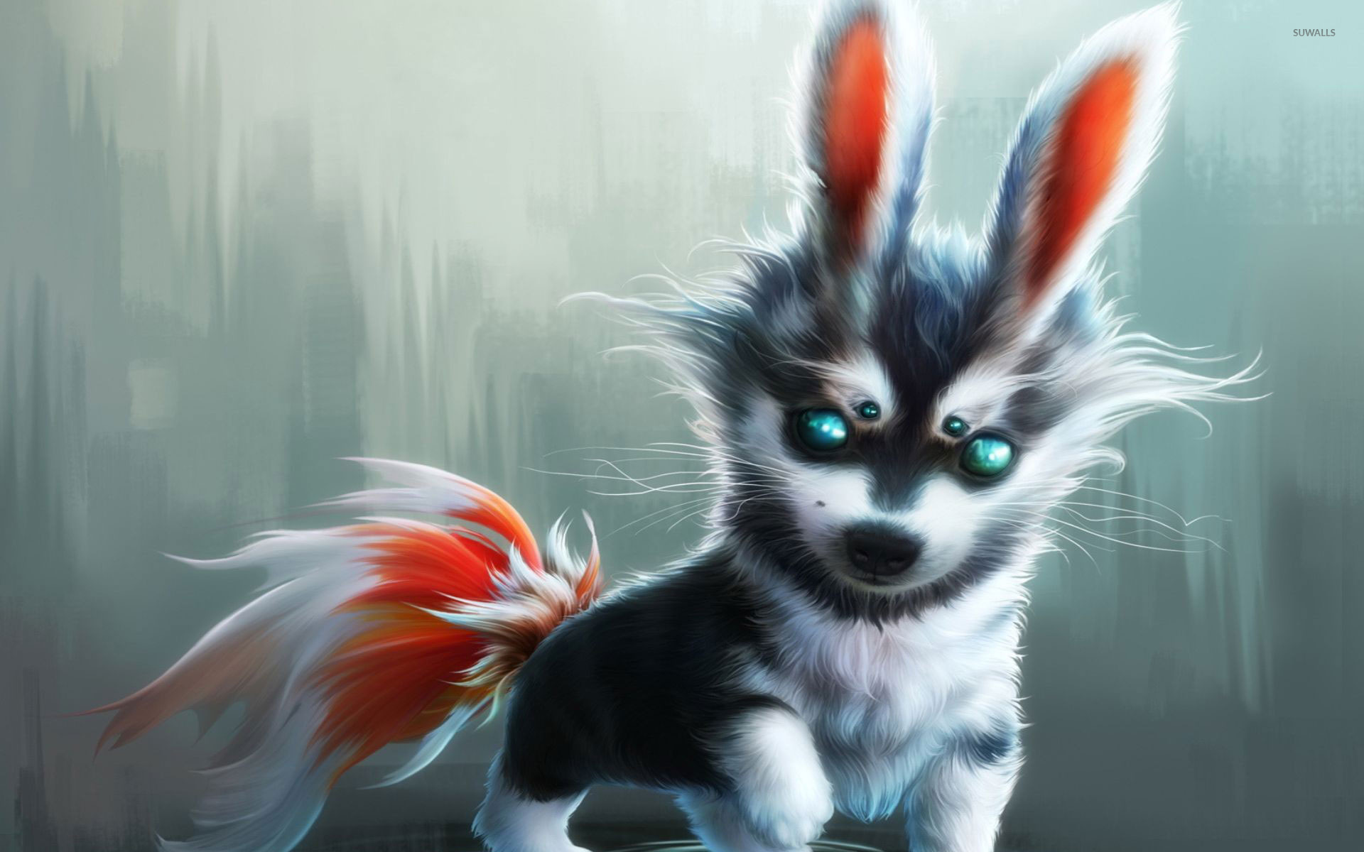Cute wolf cub wallpaper