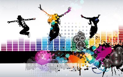 Dancers jumping wallpaper