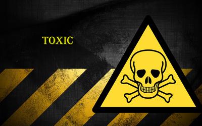Danger toxic wallpaper