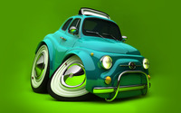 Deformed Fiat 500 wallpaper 1920x1200 jpg