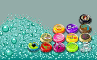 Different caps on the water wallpaper 1920x1200 jpg