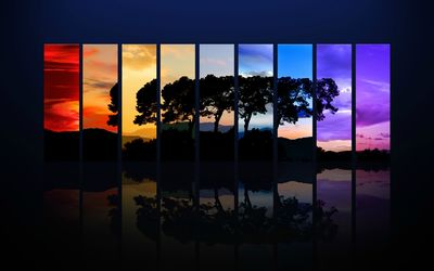 Different sunset shades wallpaper