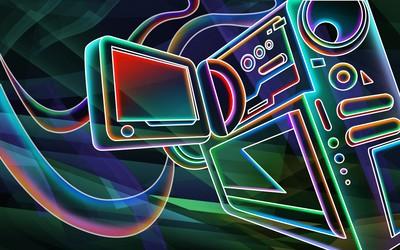 Digital camera wallpaper