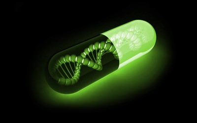 DNA in a capsule wallpaper