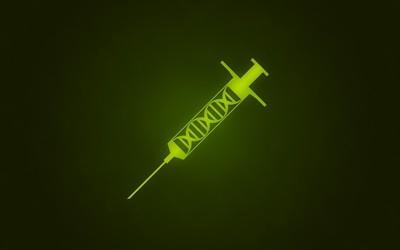 DNA shot in a syringe wallpaper
