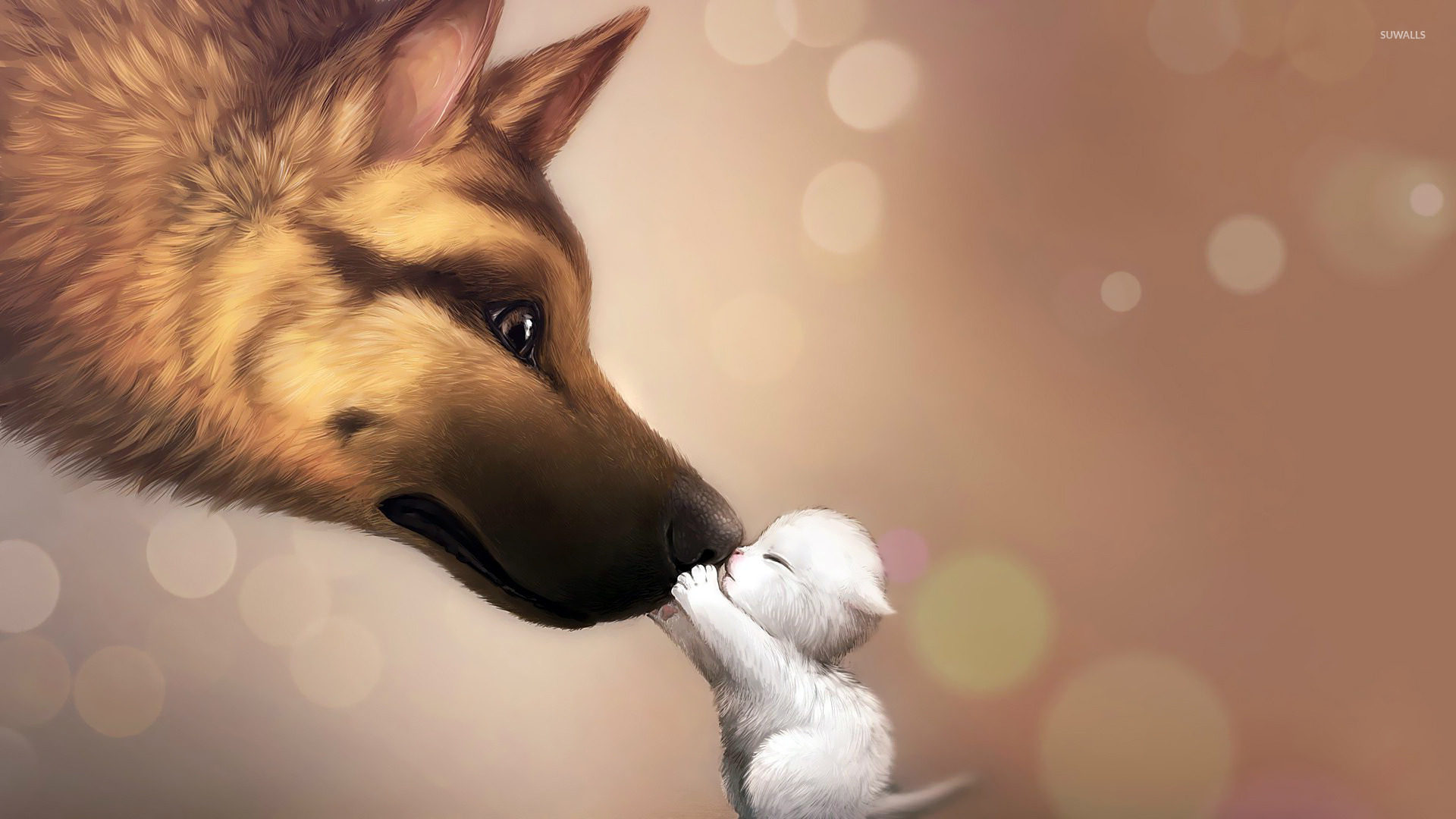Dog Puppy Wallpaper Digital Art Wallpapers 15231