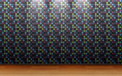 Dotted wall pattern wallpaper