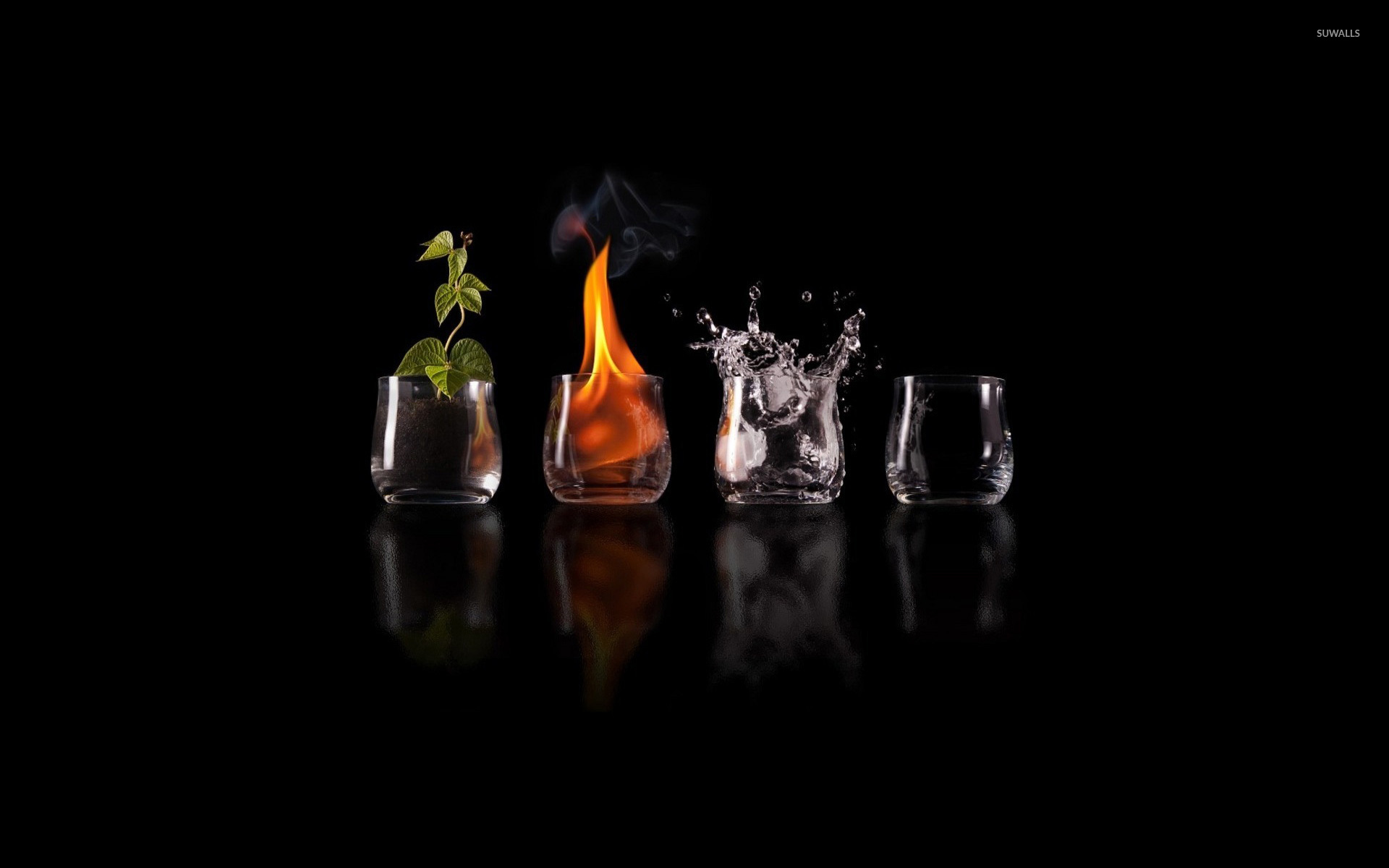 Earth Fire Water And Air Wallpaper Digital Art Wallpapers 5138