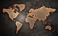 Earth map on a scratched wall wallpaper 2560x1440 jpg