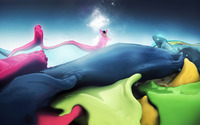 Fairy in a sea of colors wallpaper 1920x1200 jpg