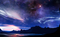 Fantastic night sky wallpaper 1920x1080 jpg