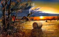 Farm sunset wallpaper 1920x1200 jpg