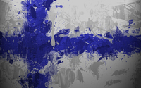 Finland flag with paint drops wallpaper 1920x1080 jpg