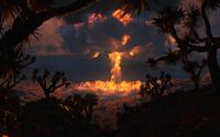 Fire clouds in the desert wallpaper 2560x1440 jpg