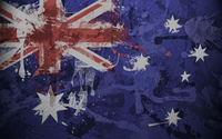 Flag of Australia with paint drops wallpaper 1920x1080 jpg