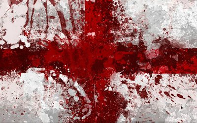 Flag of England with paint splash wallpaper
