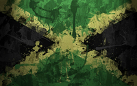 Flag of Jamaica with paint drops wallpaper 1920x1080 jpg