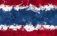 Flag of Thailand with paint splash wallpaper 1920x1080 jpg