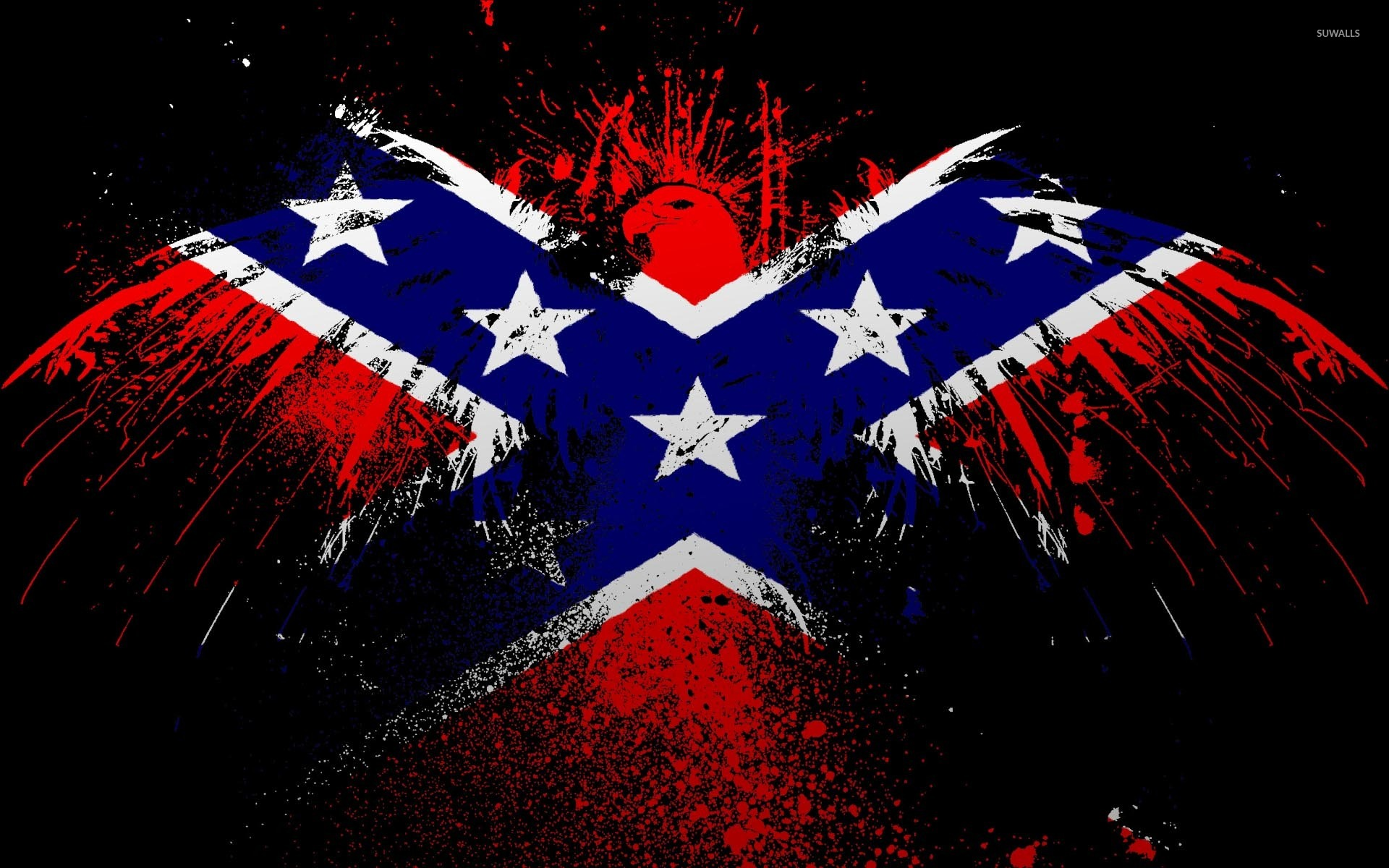 Flags Of The Confederate States Of America Wallpaper Digital Art
