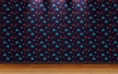 Floral wall pattern wallpaper