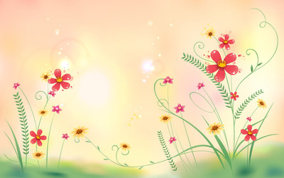 Flowers in the meadow wallpaper