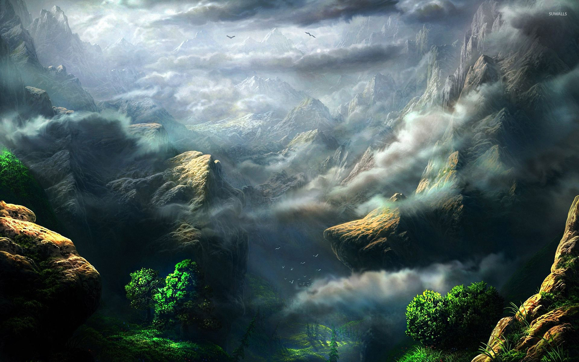 Great Wallpaper Mountain Art - fog-rising-from-the-foggy-mountains-46870-1920x1200  Graphic_74421.jpg