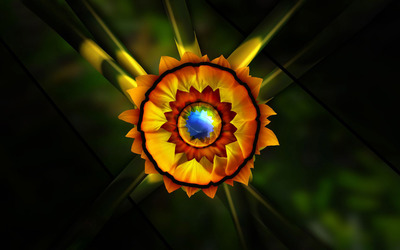 Fractal sunflower wallpaper