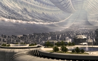 Futuristic city [13] wallpaper 1920x1200 jpg