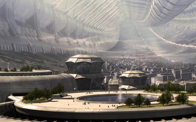 Futuristic city [14] wallpaper