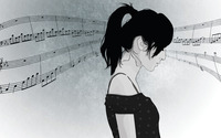 Girl in love with music wallpaper 2560x1600 jpg