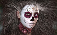 Girl with a Day of the Dead make-up wallpaper 1920x1200 jpg