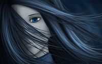 Girl with her hair in the wind wallpaper 1920x1200 jpg