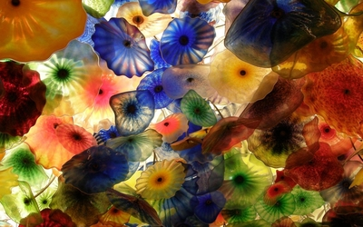 Glass flowers wallpaper
