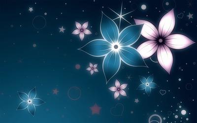 Glowing flowers [2] wallpaper