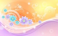 Glowing flowers and waves wallpaper 1920x1200 jpg