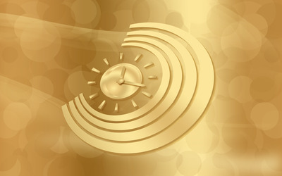 Golden clock wallpaper