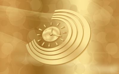Golden clock wallpaper