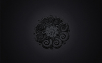 Gray flower surrounded by dark swirls wallpaper 1920x1200 jpg